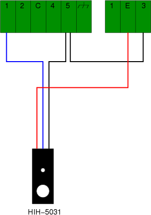 Diagram of connections between sensor and datalogger