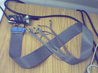Prototype with sensors attached